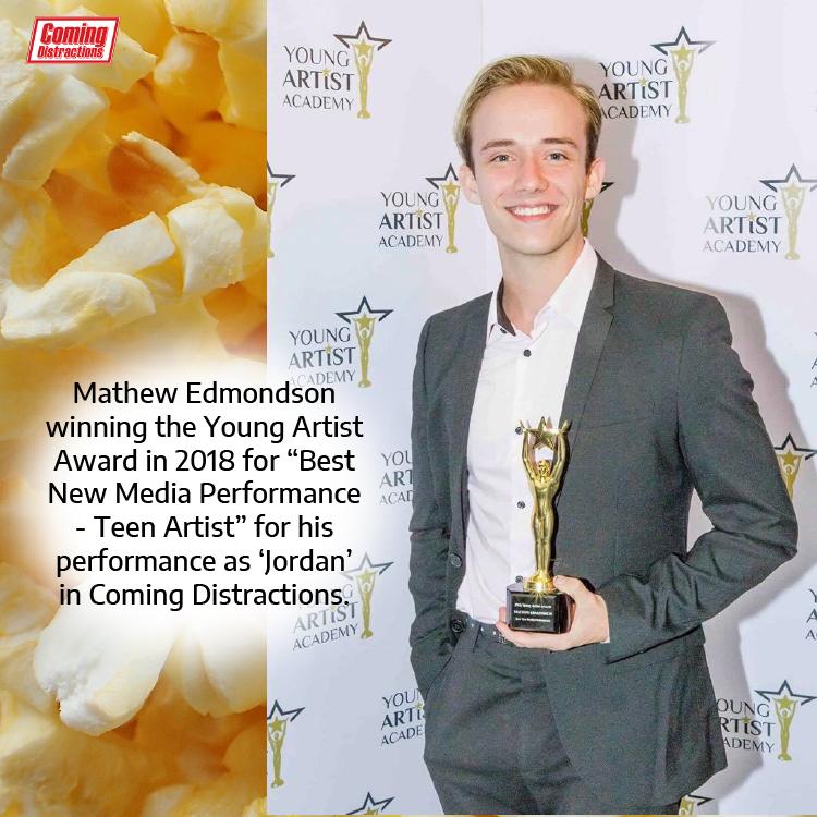 Mathew Edmondson winning the Young Artist Award
