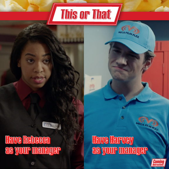 This or That: Have Rebecca as your manager or have Harvey as your manager